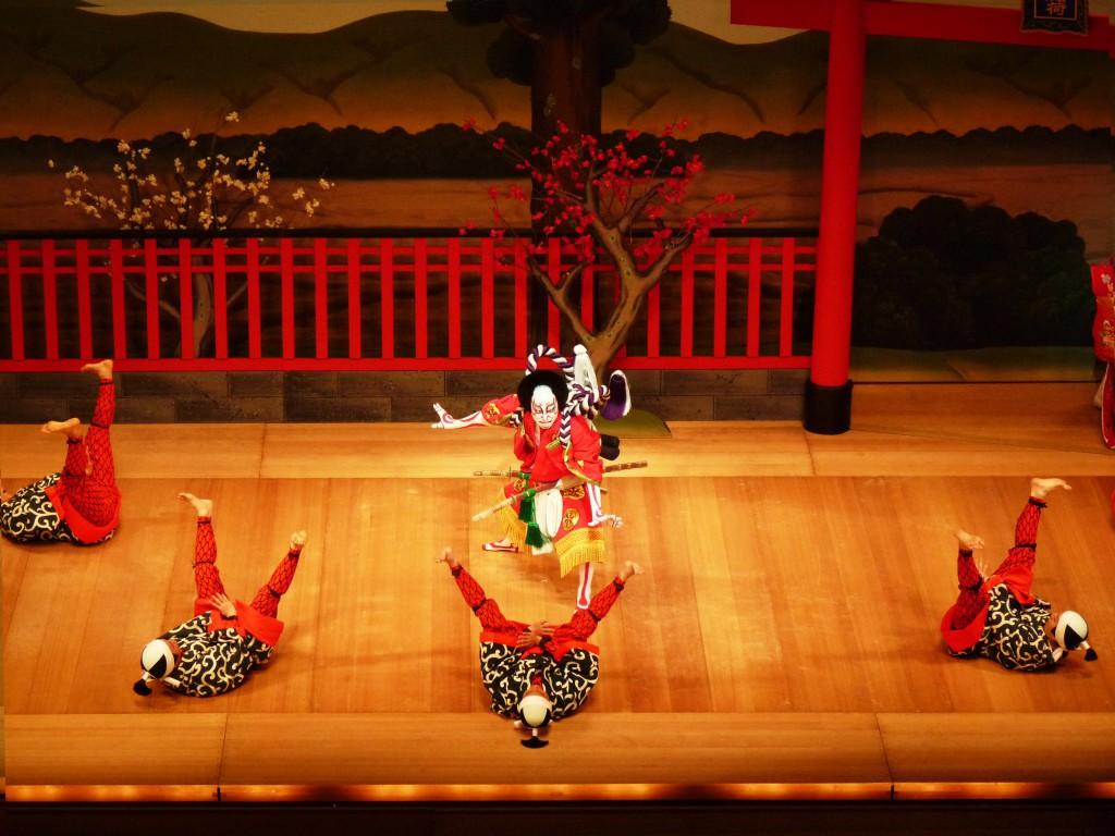 Traditionelle Kabuki-Aufführung