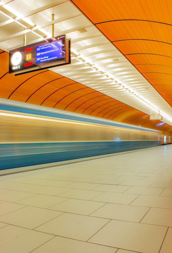 Seltener Anblick: Ein leerer Marienplatz-Bahnhof