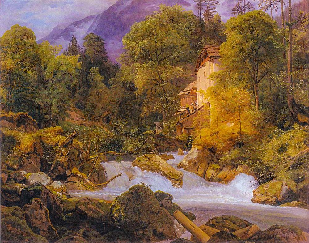 Sommer in Österreich - ein impressionistisches Farbspiel (Waldmüller)
