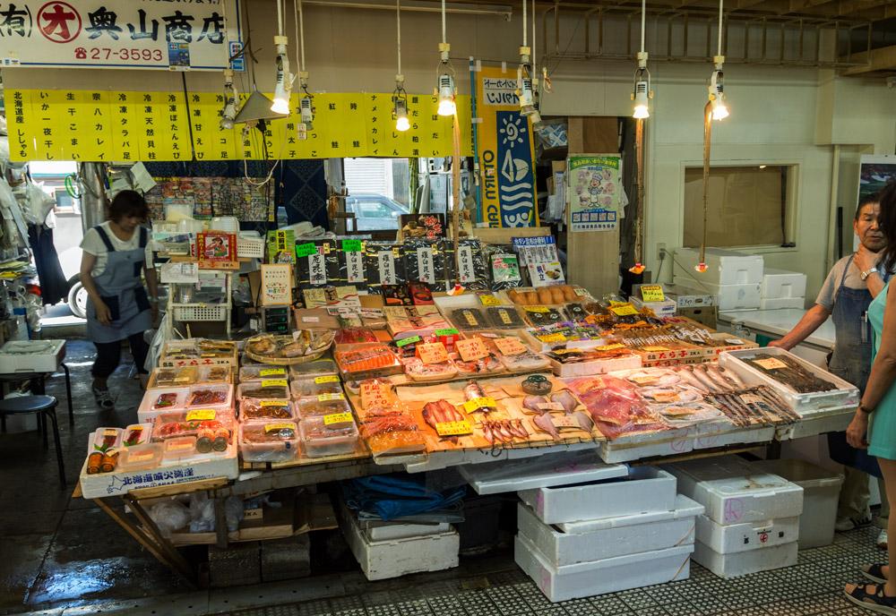 Fischmarkt in Otaru, Hokkaido