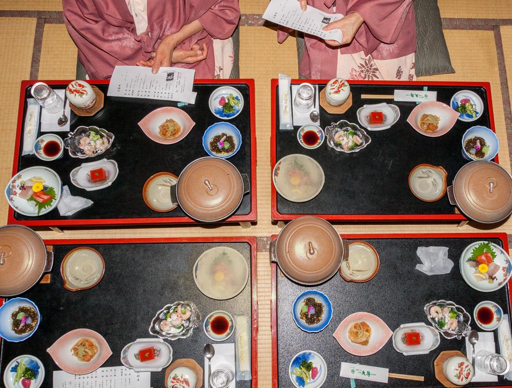 Kaiseki Ryokan Abendessen