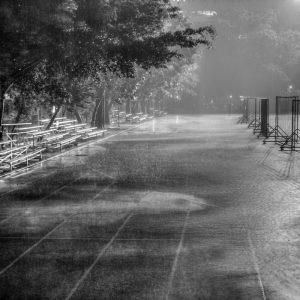 Regen und Wind